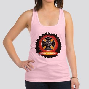 Personalized Fire and Rescue Racerback Tank Top