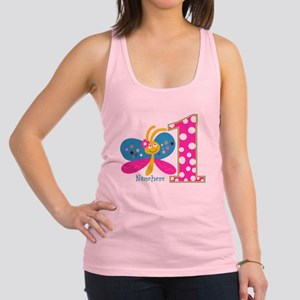 Butterfly First Birthday Racerback Tank Top