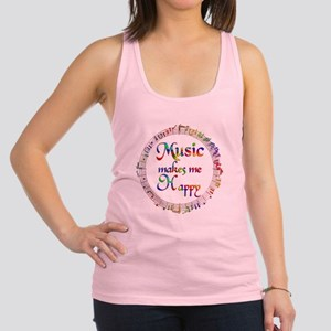 Music makes me Happy Racerback Tank Top