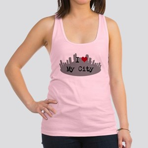 Customizable I Heart City Racerback Tank Top