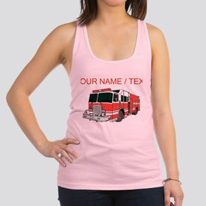 Custom Red Fire Truck Racerback Tank Top
