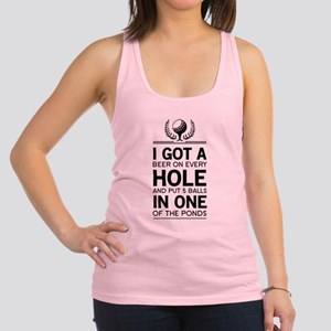 I got a hole in one ponds Racerback Tank Top