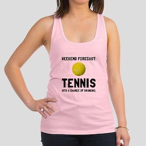 Weekend Forecast Tennis Racerback Tank Top