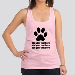 Dog's paw Racerback Tank Top