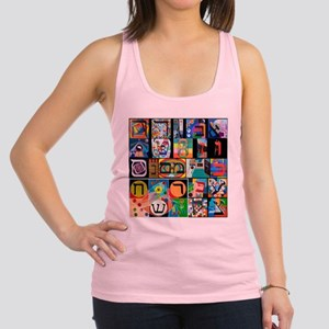 The Hebrew Alphabet Racerback Tank Top