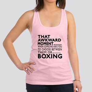 Boxing Awkward Moment Designs Racerback Tank Top