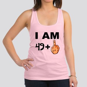 Middle Finger 50th Birthday Racerback Tank Top