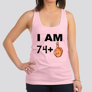 Middle Finger 75th Birthday Racerback Tank Top