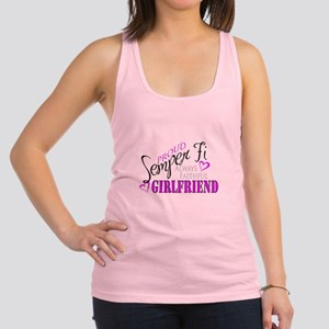 Proud Semper Fi Girlfriend Racerback Tank Top