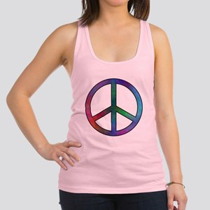 Multicolored Peace Sign Racerback Tank Top