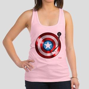 Captain America Vinyl Shield Racerback Tank Top