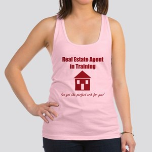 Real Estate Agent in Training Racerback Tank Top
