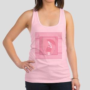 pink pregnancy Racerback Tank Top
