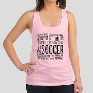 Soccer Word Cloud Racerback Tank Top
