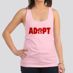 Cute Pets Paw Cat Dog Adopt Red Tank Top