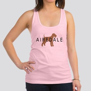 airedale dog text Racerback Tank Top