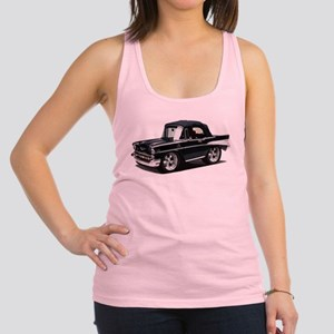 BabyAmericanMuscleCar_57BelR_Black Racerback Tank