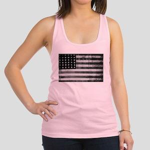 American Vintage Flag Black and Racerback Tank Top
