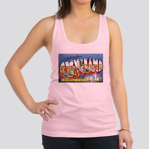 Cleveland Ohio Greetings Racerback Tank Top