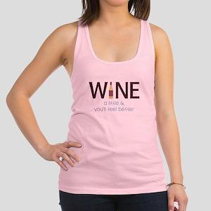 Wine a Little Racerback Tank Top