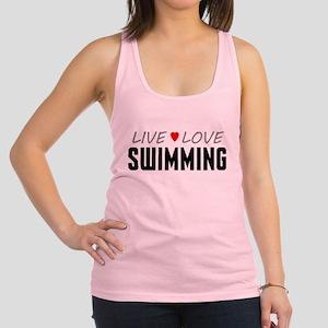 Live Love Swimming Racerback Tank Top