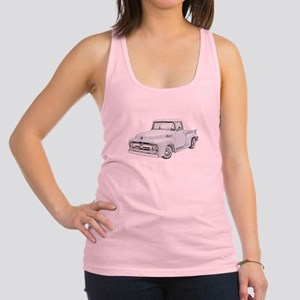 1956 Ford Truck in blue Racerback Tank Top