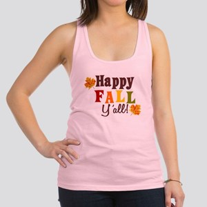 Happy Fall Yall! Racerback Tank Top