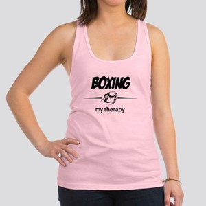 Boxing my therapy Racerback Tank Top