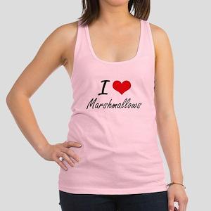 I Love Marshmallows Racerback Tank Top