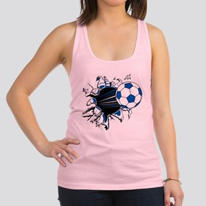Soccer Ball Burst Racerback Tank Top