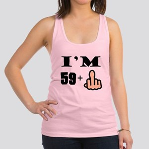 Middle Finger 60th Birthday Racerback Tank Top