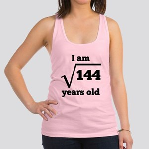 12th Birthday Square Root Racerback Tank Top