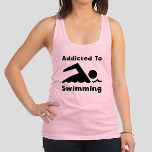Addicted To Swimming Racerback Tank Top