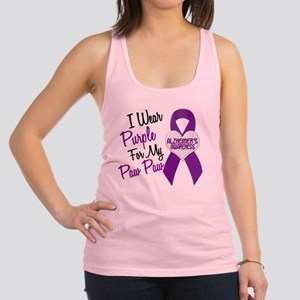 D I Wear Purple 18 Paw Paw Alzh Racerback Tank Top