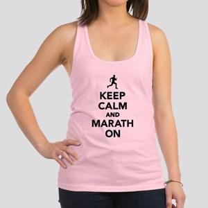 Keep calm and Marathon Racerback Tank Top