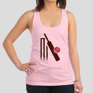 Cricket bat stumps Racerback Tank Top