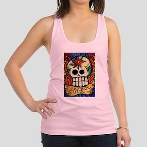 Amor Day of the Dead Skull Racerback Tank Top