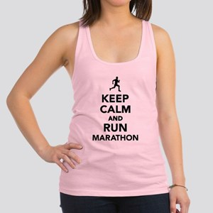 Keep calm and run Marathon Racerback Tank Top