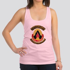 38th Support Group with Text Racerback Tank Top