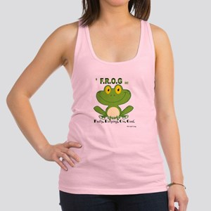 F.R.O.G. Fully, Relying,On,God Racerback Tank Top