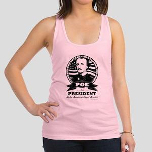 Poe For President Black Logo Racerback Tank Top