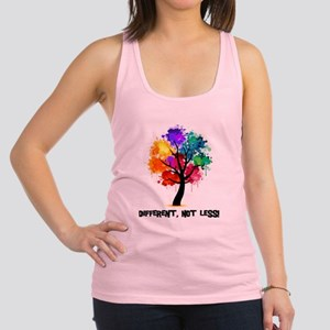 Different, not less! Racerback Tank Top