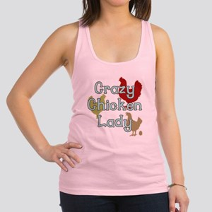 Crazy Chicken Lady Racerback Tank Top