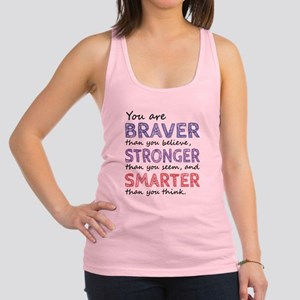 Braver Stronger Smarter Racerback Tank Top
