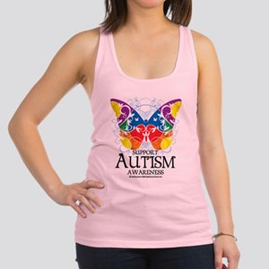 Autism-Butterfly Racerback Tank Top