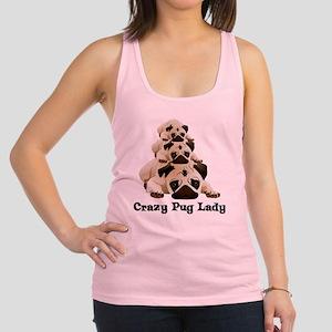 Crazy Pug Lady Racerback Tank Top
