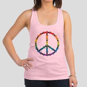 peace chain vivid Racerback Tank Top