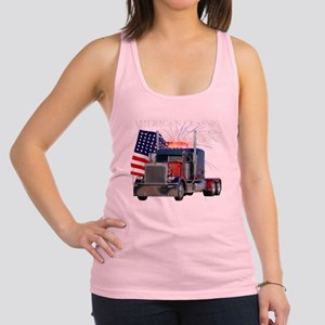 2-Am_Dark_Peterbilt_CP Racerback Tank Top
