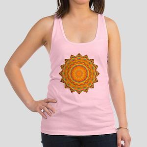 Rainbow Heart Yoga Mandala Shir Racerback Tank Top