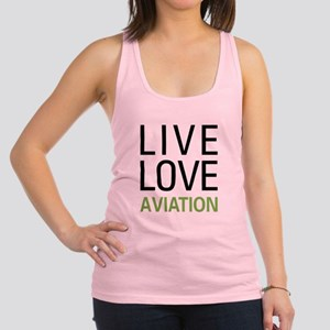 Live Love Aviation Racerback Tank Top